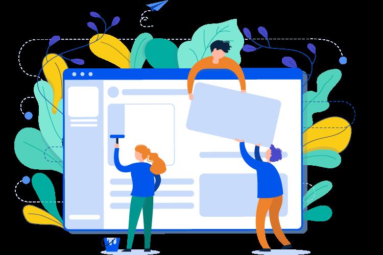 online shop elements illustration